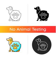 animal protection gradient icon vector image