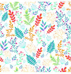artistic colorful field wild flowers seamless vector image