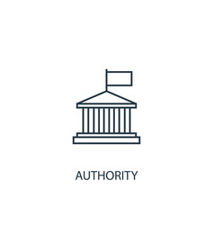 Authority concept line icon simple element vector