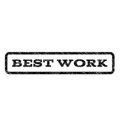 Best work watermark stamp vector