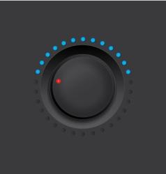black knob vector image