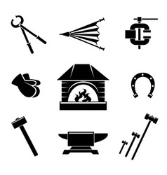 Blacksmith icons vector image