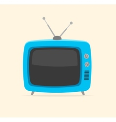 blue retro tv Flat Design vector image