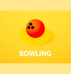 bowling isometric icon isolated on color vector image