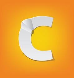 C capital letter fold english alphabet new design vector