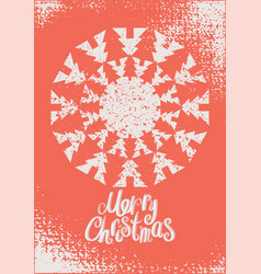 calligraphic vintage grunge christmas card vector image