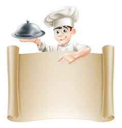 Chef menu banner vector