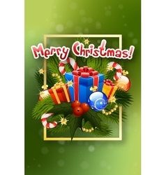 Christmas Greeting Card Lettering vector
