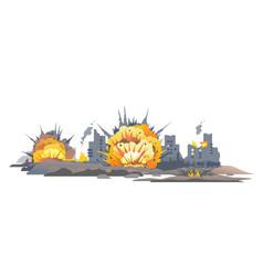 City bombing concept vector