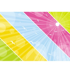 color background with lovely decorative circles vector image