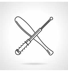 Contour icon for baton vector image