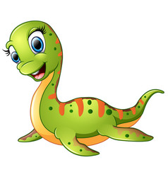 cute plesiosaurus cartoon vector image