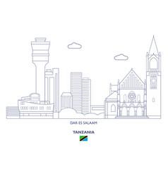 Dar es salaam city skyline vector