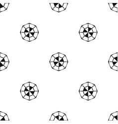 Diamond gemstone pattern seamless black vector