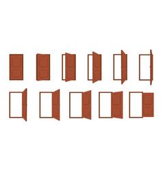 door opening cartoon open and closed living room vector image