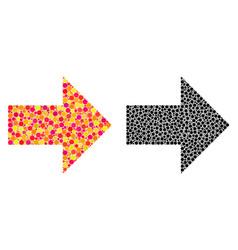 Dot arrow right mosaic icons vector