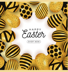 easter egg card easter card with eggs laid out in vector image
