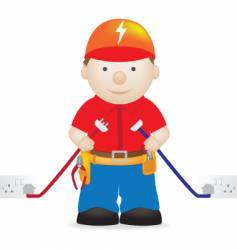electrician vector image
