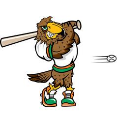 Falcon sports baseball logo mascot vector