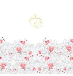 floral border vertical seamless background vector image