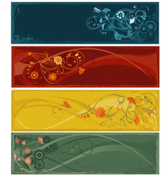 flowers abstract banners vector image