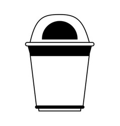Garbage can or bin icon image vector
