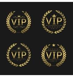 Golden VIP badges vector image