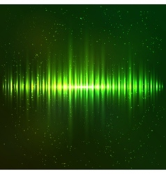 Green shining light equalizer vector