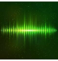 Green shining light equalizer vector image