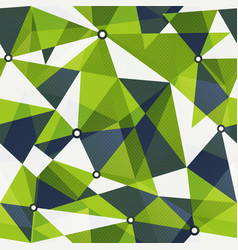 green triangle seamless pattern vector image