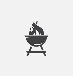 grill icon bbq icon vector image