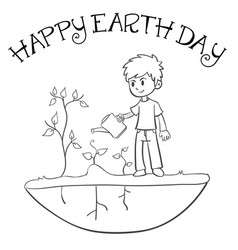 happy earth day style collection vector image