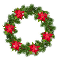 holiday christmas wreath vector image