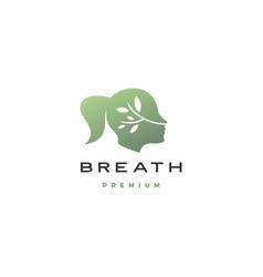 human women head breath leaf nature natural air vector image