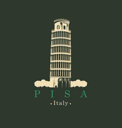 image italian leaning tower in pisa vector image