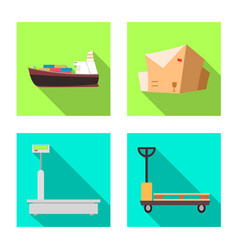 Isolated object of goods and cargo logo vector
