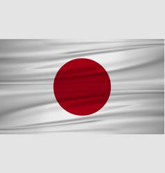 Japan flag flag of japan blowig in the wind eps vector
