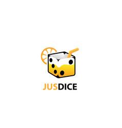 Juice dice logo- white background vector