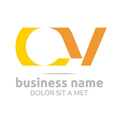 Letter c v alphabet element icon vector