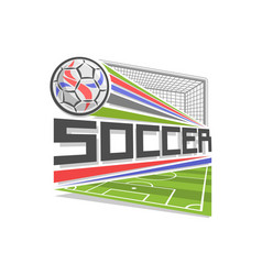 Logo for soccer vector