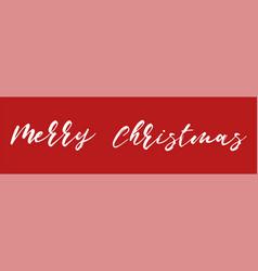 merry christmas christmas inscription on vector image