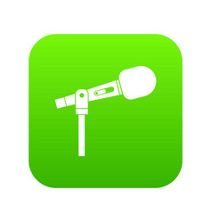 microphone icon digital green vector image