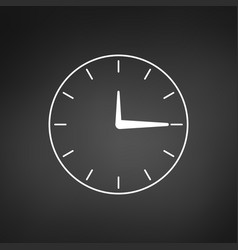 minimalistic clock or time icon isolated on vector image