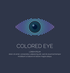 Modern colored logo eye vector