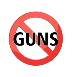 No guns sign vector