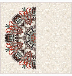 Ornate floral card with ornamental circle template vector