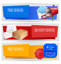 parcel post banners set vector image