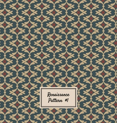 Pattern Renaissance style vector image