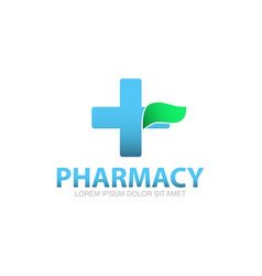 pharmacy logo template vector image
