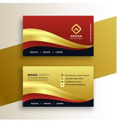 Premium golden business card template vector